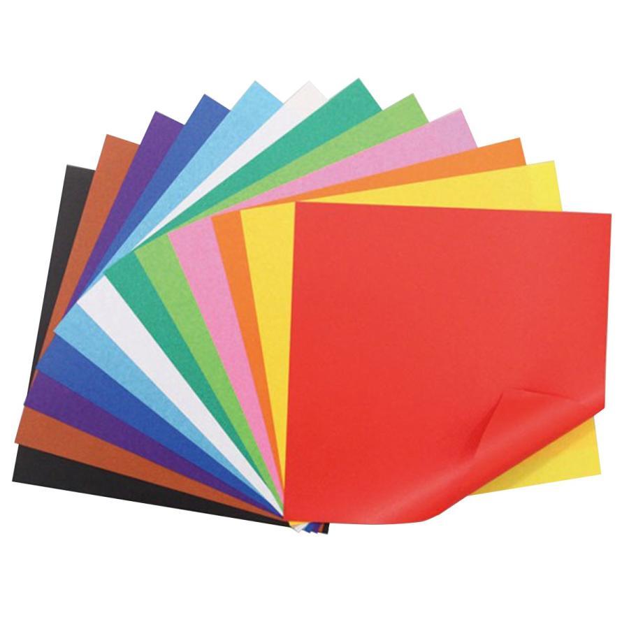 [ メール便可 ] 両面染めおりがみ 12色 48枚組 150mm角 【 作品 折紙 折り紙 製作 】|artloco