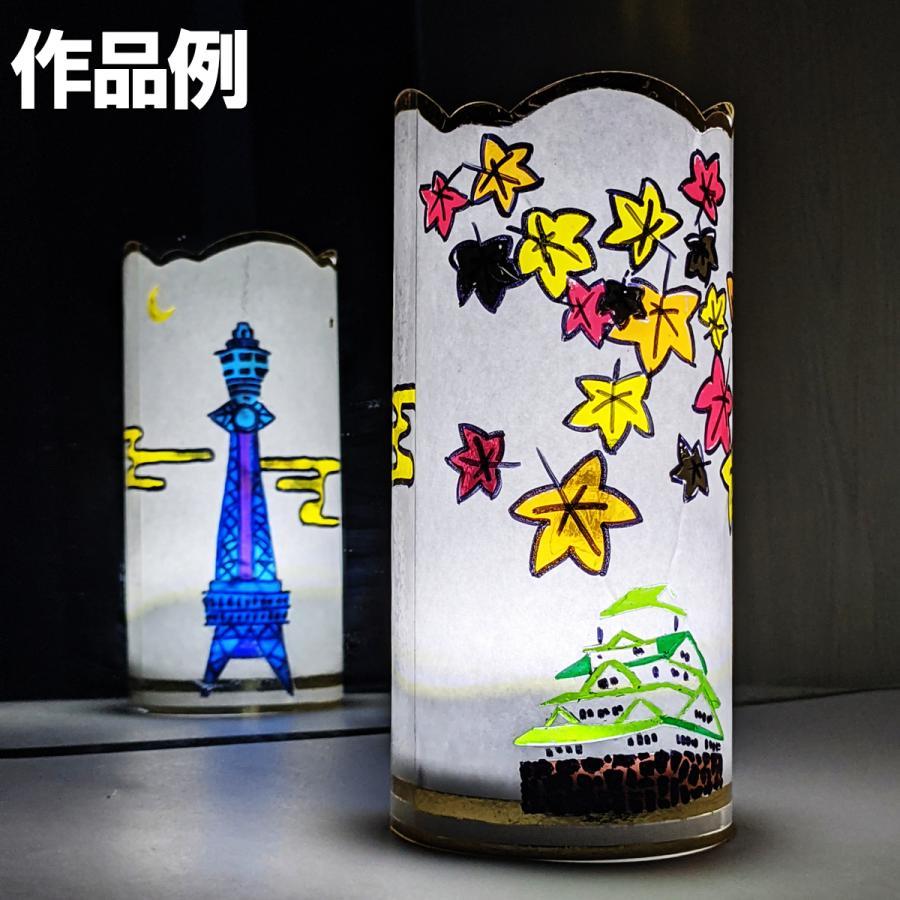 工作キット プッシュステンド 光の塔 DXセット 光源付 【 ランプ ステンドグラス風 】|artloco|06
