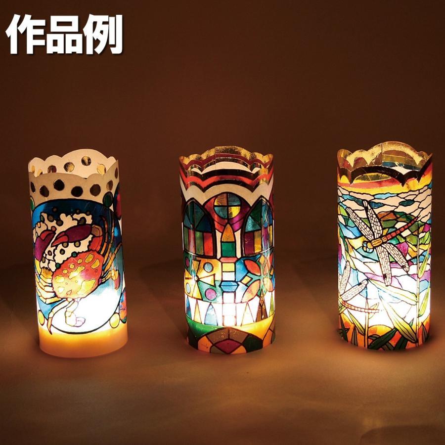 工作キット プッシュステンド 光の塔 DXセット 光源付 【 ランプ ステンドグラス風 】|artloco|07