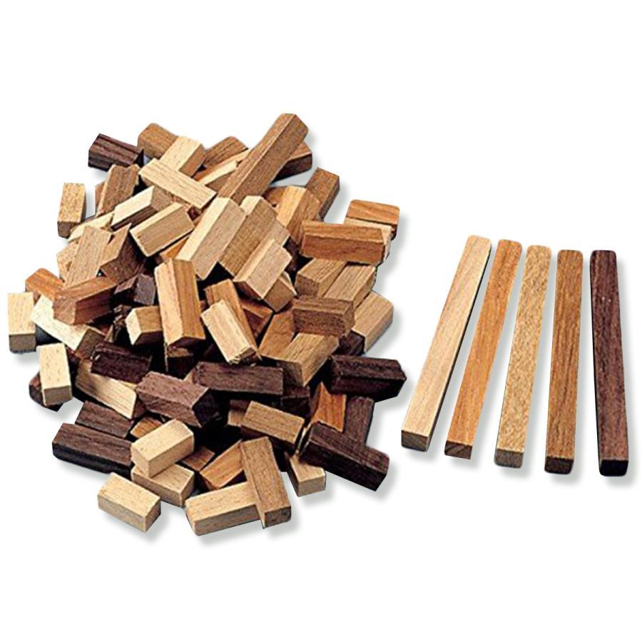 寄せ木 カラーウッド 5色 120ピースセット 寄木 木工 大幅にプライスダウン 工作 5☆大好評