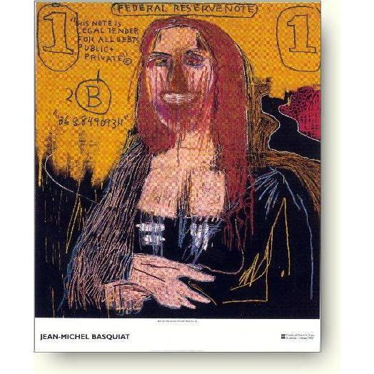 難あり絶版品 バスキアポスター モナリザ Basquiat: Mona Lisa