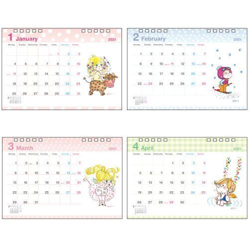 【水森亜土】2021年 デスクカレンダー 卓上 スケジュール カレンダー あどちゃん 亜土ちゃん|artsalonwasabi|02