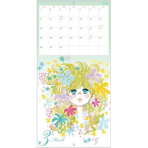 【水森亜土】2021年 ウォールカレンダーL 壁掛け スケジュール カレンダー あどちゃん 亜土ちゃん artsalonwasabi 05