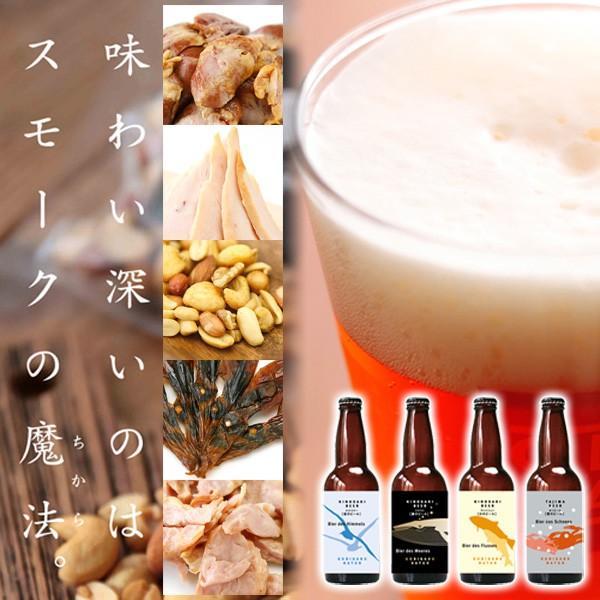 お中元 城崎温泉の地ビール クラフトビール4本&燻製5点 おつまみセット ギフト オンライン飲み会 家飲み 送料無料|arumama
