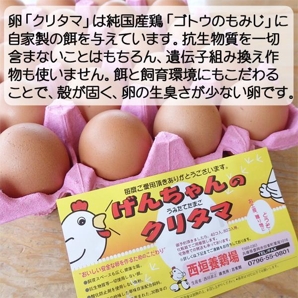 卵 送料無料 たまご 但熊 百笑館 西垣養鶏場 くりたま ギフト Lサイズ 160個|arumama|02