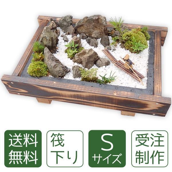 お中元 盆栽 ミニ盆栽ミニ庭園 盆景【筏下り(S)】|arumama
