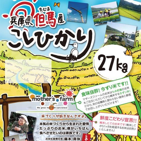 定期購入27kgx6回 令和2年産 玄米 白米 今ずり米 無洗米 農薬不使用 コシヒカリ|arumama|02