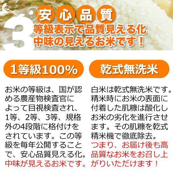 定期購入27kgx6回 令和2年産 玄米 白米 今ずり米 無洗米 農薬不使用 コシヒカリ|arumama|07