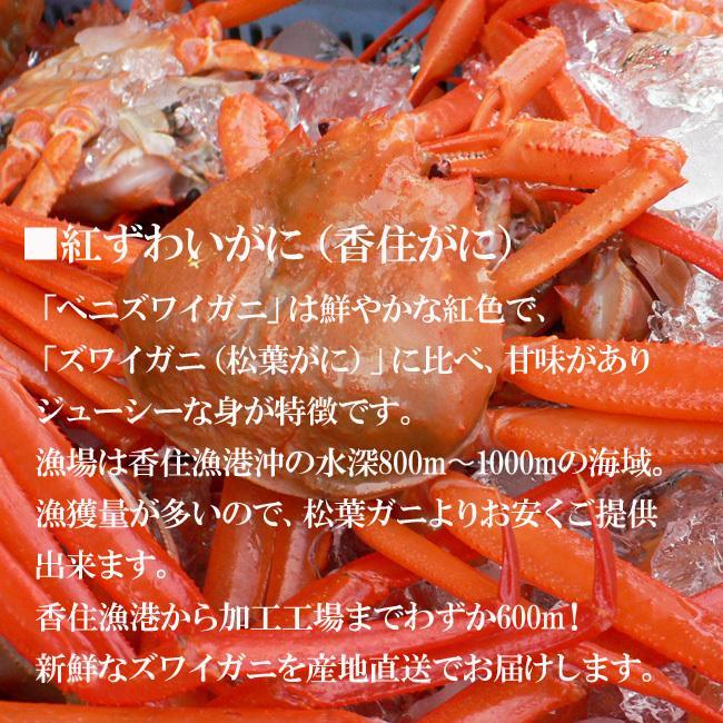 冷凍 香住ガニ 香住がに ベニズワイガニ 切ガニ(6〜7肩)ボイル arumama 03