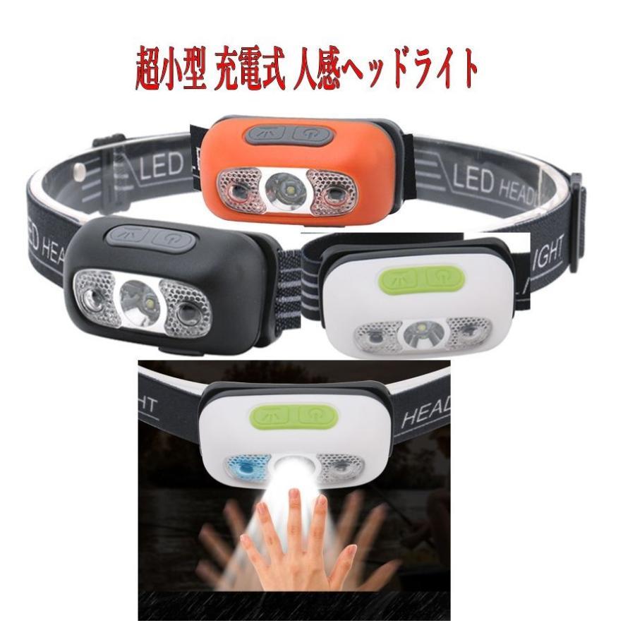 小型、充電式センサーヘッドライト/軽量、コンパクト/夜釣り 災害時&レジャー|arusena39