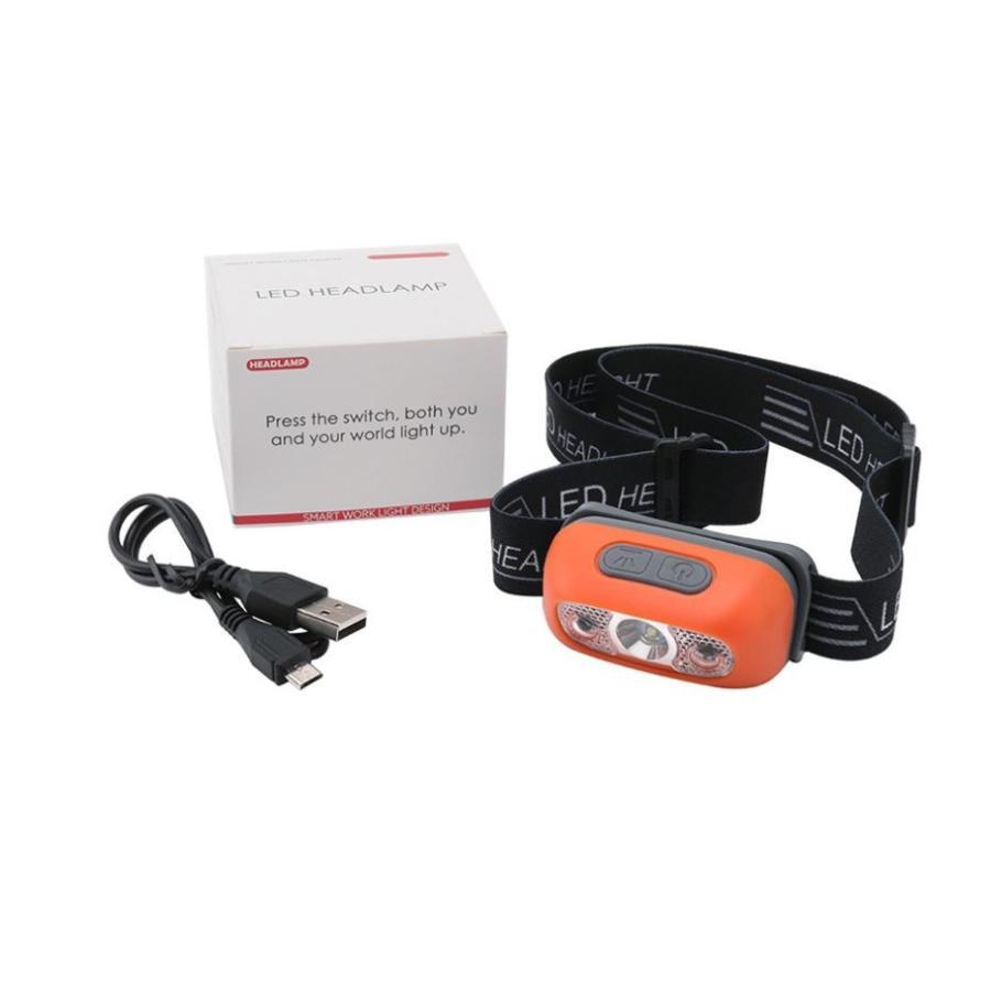 小型、充電式センサーヘッドライト/軽量、コンパクト/夜釣り 災害時&レジャー|arusena39|11