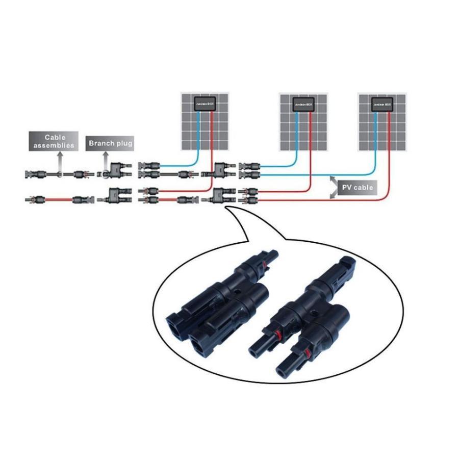 ソーラーパネル 2分岐コネクタ Y分岐コネクタ MC4並列接続 2分岐 コネクター ネコポス配送|arusena39|03