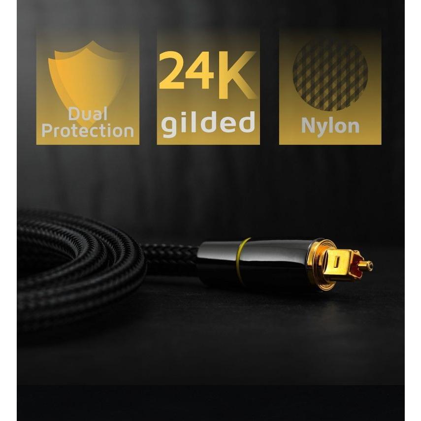 光デジタルケーブル 1m 高品質光ケーブル TOSLINK 角型プラグ オーディオケーブル/D003|arusena39|06