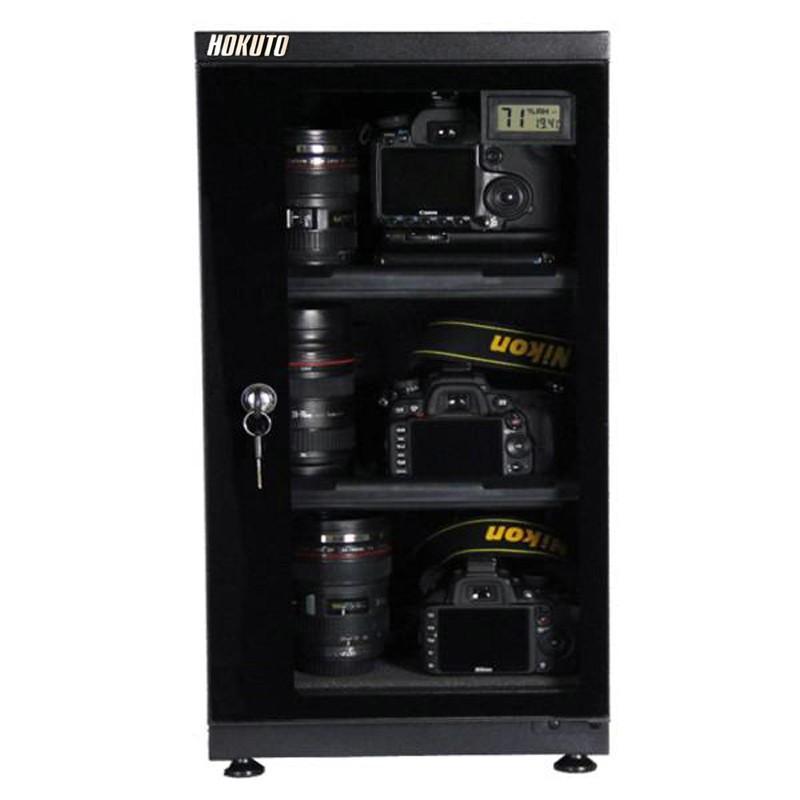 HOKUTO防湿庫・ドライボックス HS51L 引き出し棚装備 5年保証 送料無料 カメラ保管庫 デシケーター カメラカビ対策 除湿庫 レンズカビ対策|arvex|02
