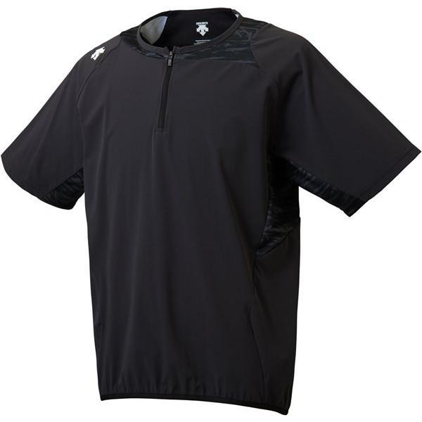 デサント(DESCENTE) DBMLJC31 BLK 野球 ウインドウェア ハイブリッドシャツ 18FW
