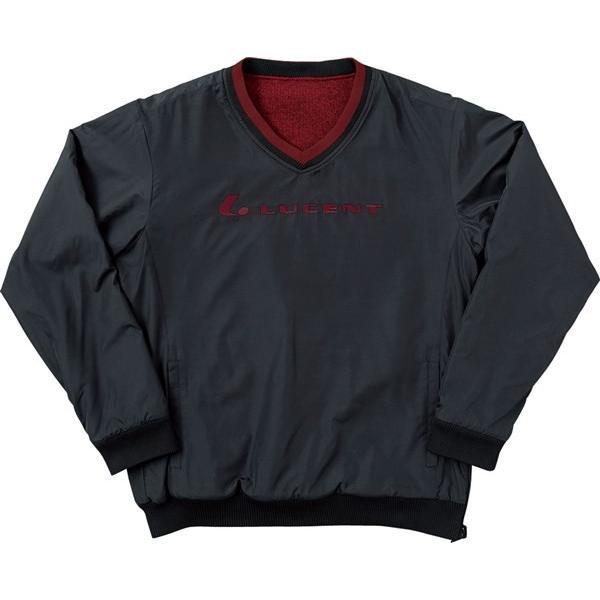 LUCENT(ルーセント) XLT5199 テニス リバーシブルトレーナー ブラック×レッド 18SS