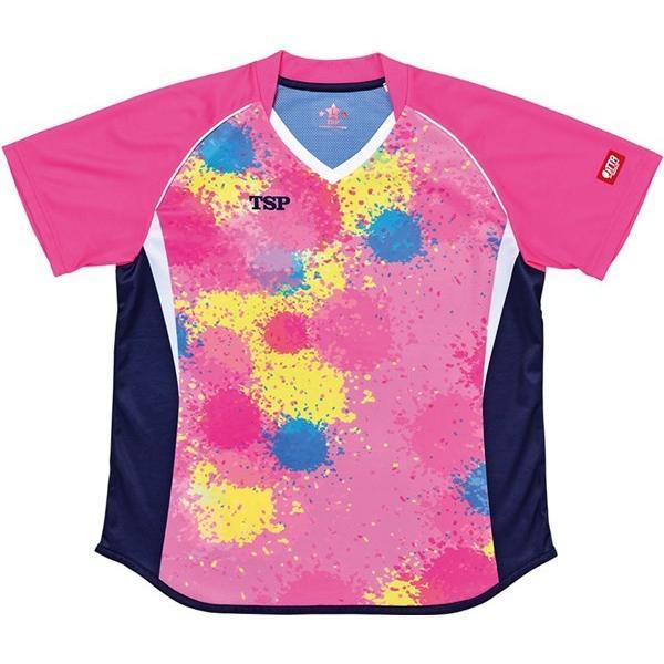 TSP(ヤマト卓球) 032414 0300 卓球 ゲームシャツ レディース イオーネシャツ 18SS