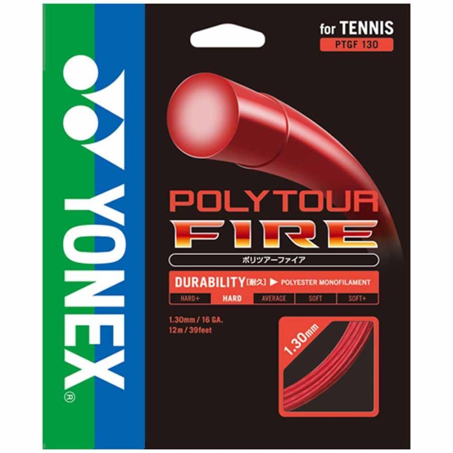 Yonex(ヨネックス) PTF1302 001 テニス ガット ポリツアーファイア130(240mロール) レッド 16SS