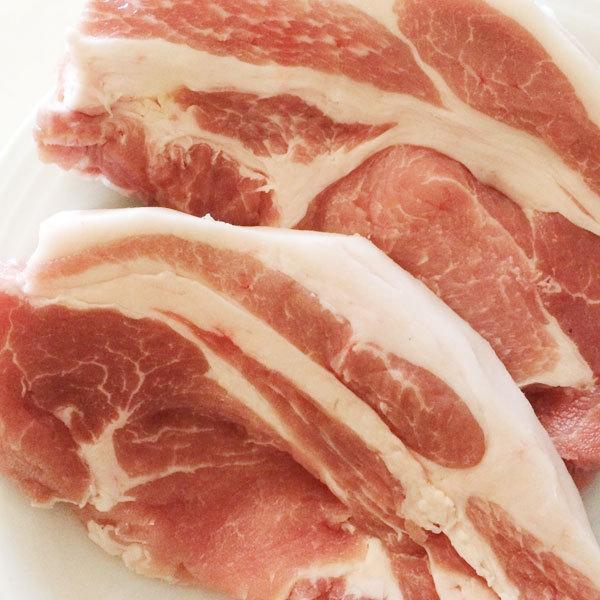 豚ロース厚切り2枚入 長崎島原豚 |asagohanhonpo