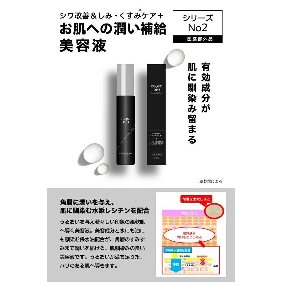REQST DIO 美容液 メンズ エイジングケア シワ改善 シミ くすみ 予防 ハリ 保湿 ナイアシンアミド配合 48g【医薬部外品】|asahiyanet|10