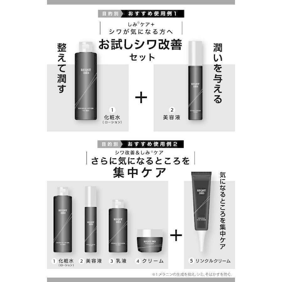 REQST DIO 美容液 メンズ エイジングケア シワ改善 シミ くすみ 予防 ハリ 保湿 ナイアシンアミド配合 48g【医薬部外品】|asahiyanet|14
