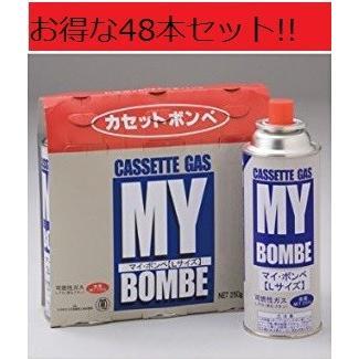 カセットコンロ用ボンベ マイボンベL3本組×16組 1箱 カセットボンベ ニチネン 備蓄燃料 250gポイント消化|asahiyasetomonoten