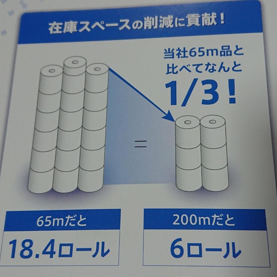トイレットペーパー 200m×6R 4袋24ロールセット シングル スーパーロング 日本製 芯なし ポイント消化|asahiyasetomonoten|02
