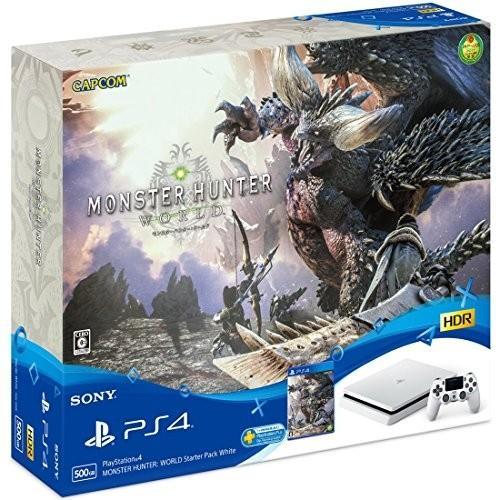 【01/26新発売☆即納可能】【新品】【PS4HD】PlayStation4 MONSTER HUNTER: WORLD Starter Pack白い CUHJ-10023【送料無料※沖縄除く】