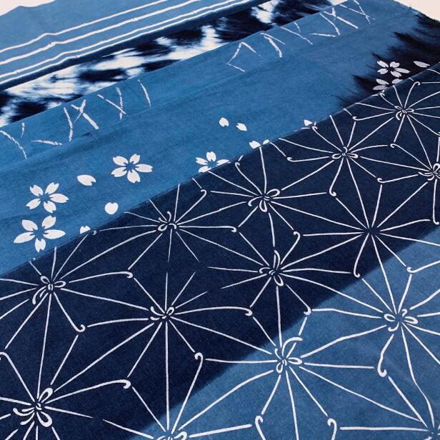 【天然染料】阿波藍染め手ぬぐい/和インテリア 飾る/日本製 綿100%/日本土産 外国人に人気/スカーフ 手ぬぐいマスク タペストリーにおすすめ/アート蒼 asanoha-shop
