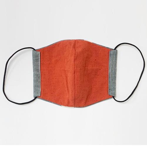 【日本製】古布マスク 立体 大人用 アンティーク 縞/ 綿100% 着物 / 粋 おしゃれ かっこいい /大きいサイズ/ ウイルス対策 /アート蒼 asanoha-shop 02