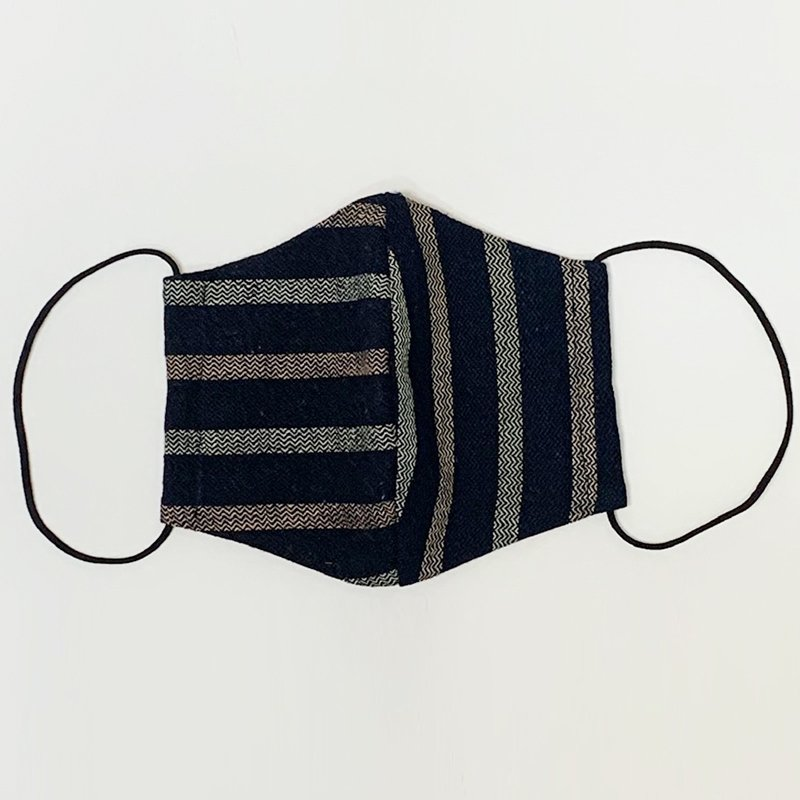 【日本製】古布マスク 立体 大人用 アンティーク 縞/ 綿100% 着物 / 粋 おしゃれ かっこいい /大きいサイズ/ ウイルス対策 /アート蒼 asanoha-shop 09