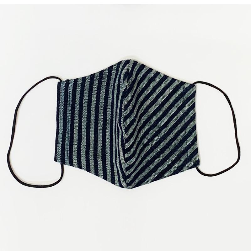 【日本製】古布マスク 立体 大人用 アンティーク 縞/ 綿100% 着物 / 粋 おしゃれ かっこいい /大きいサイズ/ ウイルス対策 /アート蒼 asanoha-shop 11