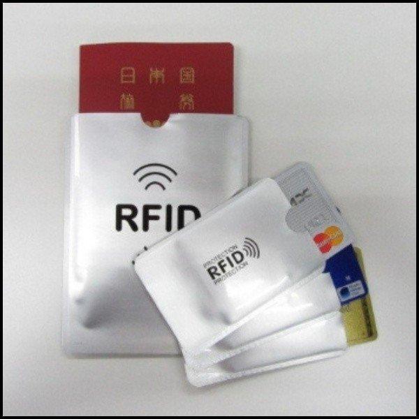スキミング防止 4枚セット パスポートケース カードケース 財布 バッグ 磁器 飛行機 空港 RFID リュック キャッシュ 通帳 ICチップ スキニング|ashcommerce|04