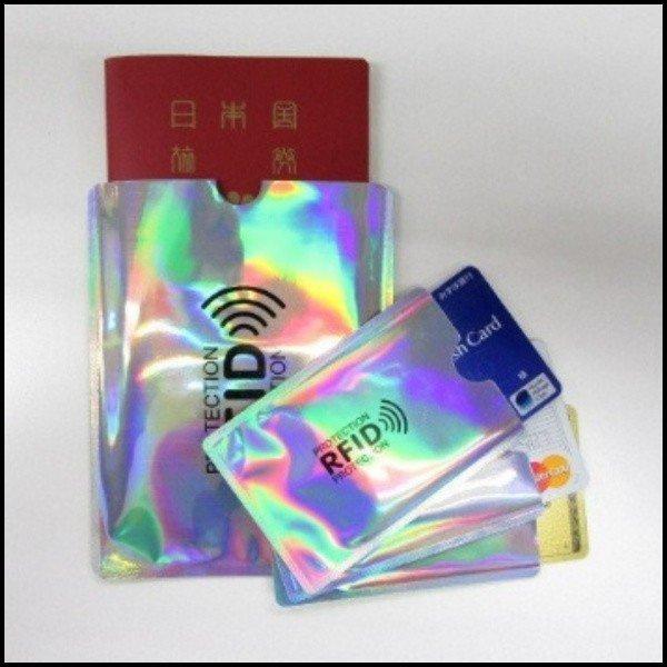 スキミング防止 4枚セット パスポートケース カードケース 財布 バッグ 磁器 飛行機 空港 RFID リュック キャッシュ 通帳 ICチップ スキニング|ashcommerce|05