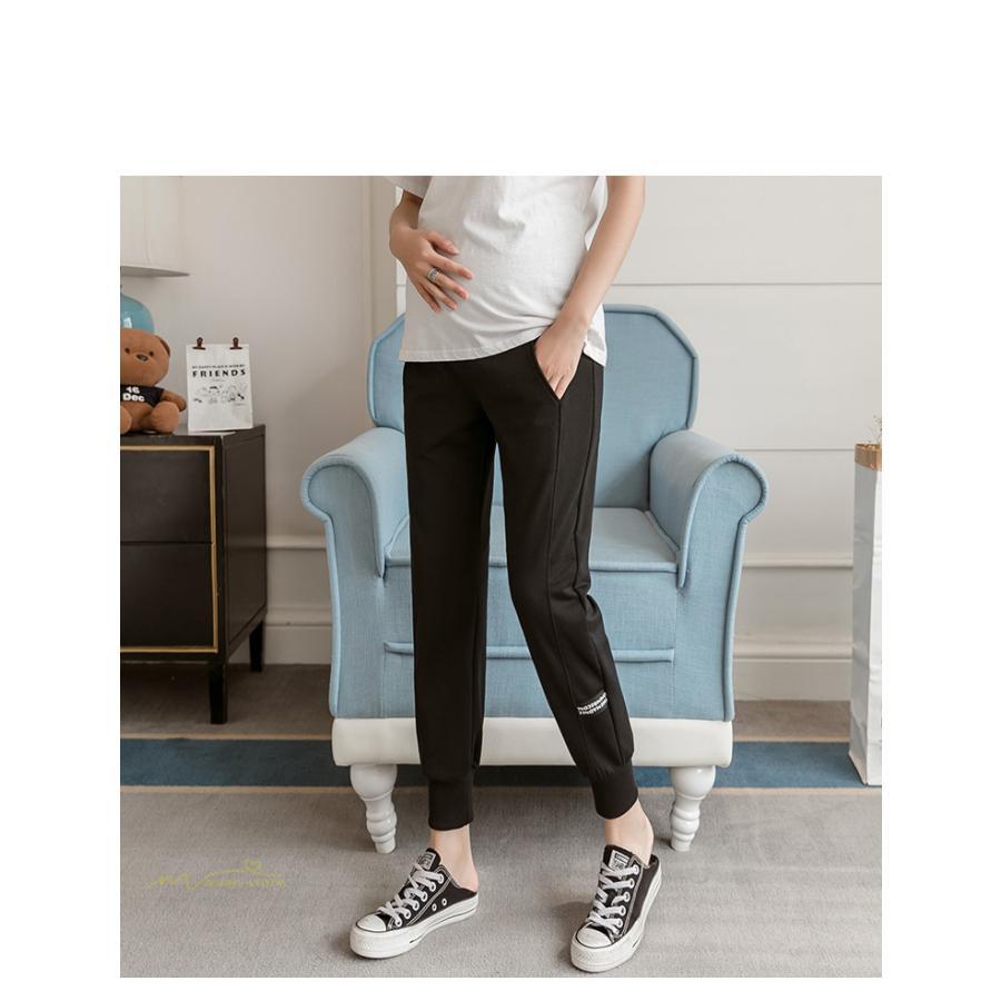 マタニティパンツ スウェットパンツ ジョガーパンツ 妊婦服 妊娠パンツ 産前産後 ロングパンツ ゆったり カジュアル ルームウェア ウエスト調整 M L XL XXL asian-store 15