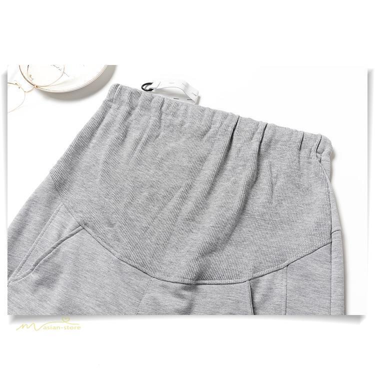 マタニティパンツ スウェットパンツ ジョガーパンツ 妊婦服 妊娠パンツ 産前産後 ロングパンツ ゆったり カジュアル ルームウェア ウエスト調整 M L XL XXL asian-store 04