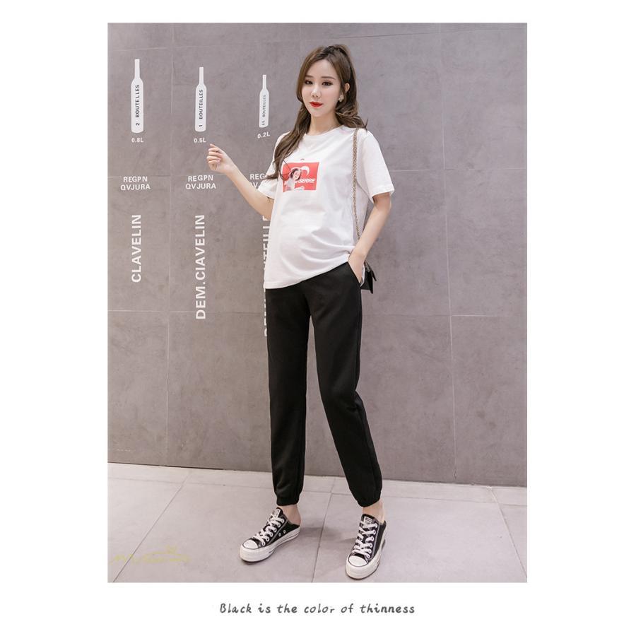 マタニティパンツ スウェットパンツ ジョガーパンツ 妊婦服 妊娠パンツ 産前産後 ロングパンツ ゆったり カジュアル ルームウェア ウエスト調整 M L XL XXL|asian-store|18