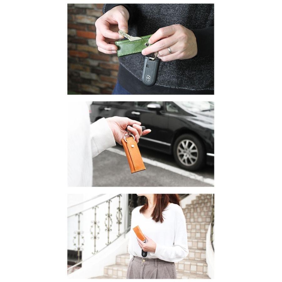 キーケース メンズ レディース 本革 レザー 小銭入れ ミニ財布 お札 収納 小さい 薄い 軽い ミニマリスト|asianarts|11