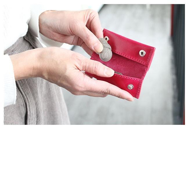 キーケース メンズ レディース 本革 レザー 小銭入れ ミニ財布 お札 収納 小さい 薄い 軽い ミニマリスト|asianarts|13