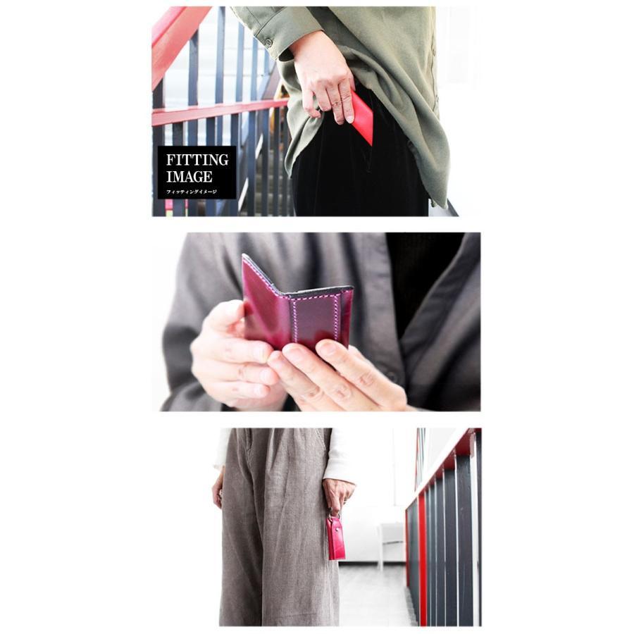 キーケース メンズ レディース 本革 レザー 小銭入れ ミニ財布 お札 収納 小さい 薄い 軽い ミニマリスト|asianarts|10