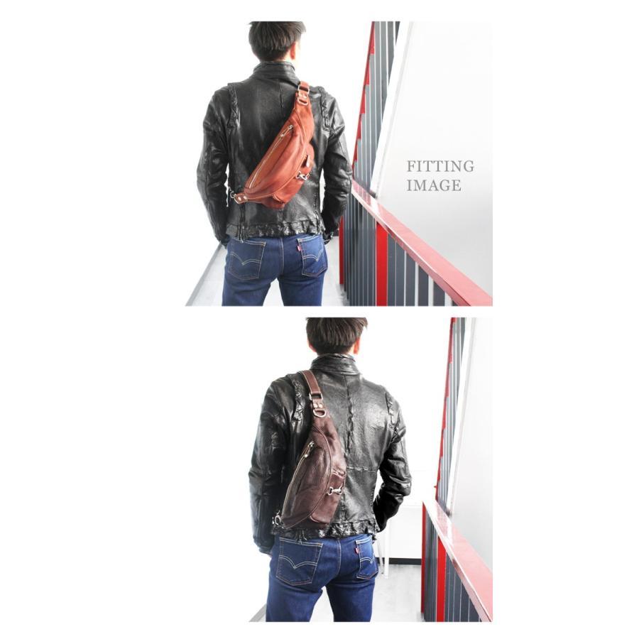 バッグ メンズ ボディバッグ 本革 レザー ウエストバッグ 斜めがけ ヒップバッグ 大容量|asianarts|08