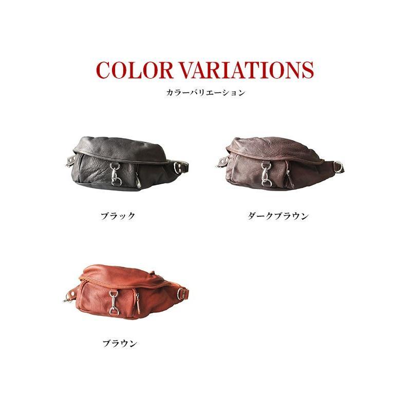 バッグ メンズ ボディバッグ 本革 レザー ウエストバッグ 斜めがけ ヒップバッグ 大容量|asianarts|09