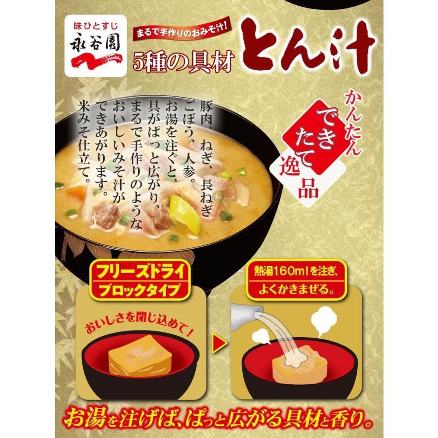 永谷園 フリーズドライ味噌汁 5種の具材 とん汁 10.1g x6個 インスタントみそ汁 asianlife 03