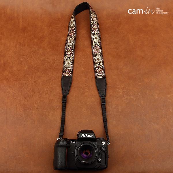【CAM in】一眼レフ ミラーレス一眼レフ 用  カメラネックストラップ ラグジュアリーゴールド ヨーロピアン 刺繍デザイン カメラ女子にも【CAM8411】|asianzakka|17