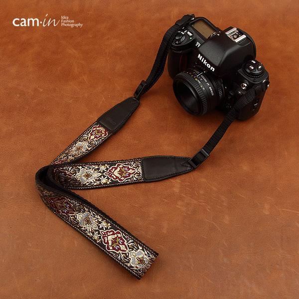 【CAM in】一眼レフ ミラーレス一眼レフ 用  カメラネックストラップ ラグジュアリーゴールド ヨーロピアン 刺繍デザイン カメラ女子にも【CAM8411】|asianzakka|05
