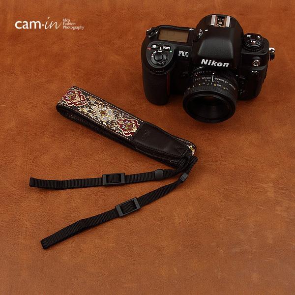 【CAM in】一眼レフ ミラーレス一眼レフ 用  カメラネックストラップ ラグジュアリーゴールド ヨーロピアン 刺繍デザイン カメラ女子にも【CAM8411】|asianzakka|06