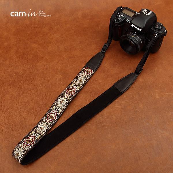 【CAM in】一眼レフ ミラーレス一眼レフ 用  カメラネックストラップ ラグジュアリーゴールド ヨーロピアン 刺繍デザイン カメラ女子にも【CAM8411】|asianzakka|09
