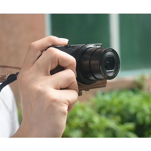 レザーカメラケース Sony RX100シリーズ専用 レザーケース M M2 M3 M4 M5 M6 用 レザージャケット お揃いカラーのストラップ付き|asianzakka|11