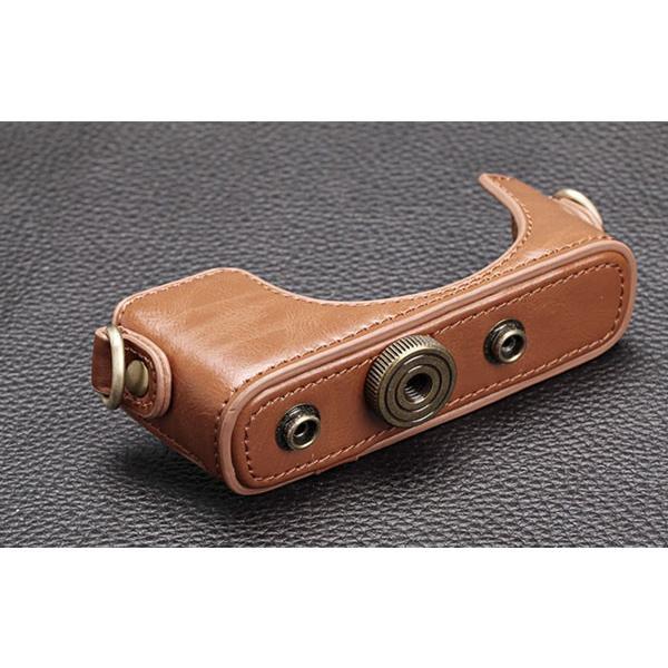 レザーカメラケース Sony RX100シリーズ専用 レザーケース M M2 M3 M4 M5 M6 用 レザージャケット お揃いカラーのストラップ付き|asianzakka|04