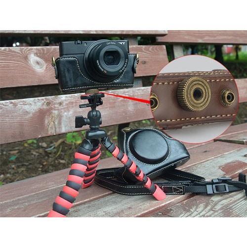 レザーカメラケース Sony RX100シリーズ専用 レザーケース M M2 M3 M4 M5 M6 用 レザージャケット お揃いカラーのストラップ付き|asianzakka|05